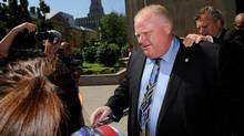 Toronto Mayor Rob Ford leaves the courthouse at 361 University Ave on Sept. 5 2012. Ford was testifying in a conflict of interest case that could see him thrown out of office if he is found to have violated the rules. (Fred Lum/The Globe and Mail)