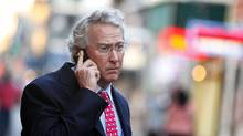 Chesapeake Energy Corp. CEO Aubrey McClendon uses his mobile phone as he walks through the French Quarter in New Orleans, Louisiana in this March 26, 2012, file photo. (SEAN GARDNER/REUTERS)