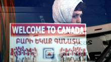 Refugee arrivals to Canada, such as this young boy, are fewer in number compared with many European countries. (Fred Lum/The Globe and Mail)