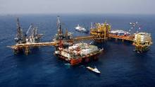 Pemex's KU-S oil production platform in the Gulf of Mexico: Mayan heavy crude is competing with Alberta's bitumen. (ADRIANA ZEHBRAUSKAS/THE NEW YORK TIMES)