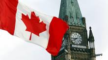 The Canadian flag flies on Parliament Hill in Ottawa August 2, 2015. (BLAIR GABLE/REUTERS)