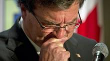 Finance Minister Jim Flaherty holds pre-budget consultations in Vancouver on Jan. 10, 2012. (JOHN LEHMANN/John Lehmann/The Globe and Mail)