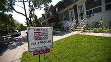 A house for sale in Toronto, Sept. 6, 2012. (Galit Rodan/The Globe and Mail)