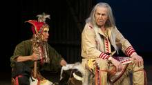 """Jani Lauzon (left) and August Schellenberg in """"King Lear"""" at the National Arts Centre (Andree Lanthier)"""