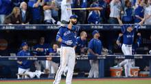 Blue Jays slugger Jose Bautista says he would like to be a Blue Jay for life. It appears to be up to the team's new front office to make the next move. (Chris Young/THE CANADIAN PRESS)