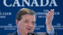 Finance Minister Jim Flaherty delivers a speech to the Economic Club of Canada in Ottawa on Feb. 6, 2013. (ADRIAN WYLD/THE CANADIAN PRESS)