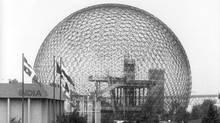 Buckminster Fuller's geodesic dome was a landmark on the Expo 67 site. (John McNeill)