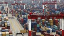 A shipping container area at Yangshan Port in Shanghai, in this May 11, 2012 file picture. (ALY SONG/REUTERS)