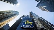 The Royal Bank of Canada (RBC) logo is seen on Bay Street in Toronto on Jan. 22, 2015. (MARK BLINCH/REUTERS)