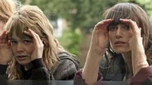 Carey Mulligan (left) and Keira Knightley in a scene from Never Let Me Go