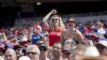 Toronto Blue Jays executives believe anecdotal evidence shows a continuing trend toward more youthful/female attendance this season. (Matthew Sherwood For The Globe and Mail)