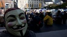 Occupy Vancouver protesters are seen in their tent city outside the Vancouver Art Gallery on Monday, Oct. 17, 2011. (Jonathan Hayward/The Canadian Press/Jonathan Hayward/The Canadian Press)