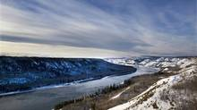 The area of the Peace River just down the river where the proposed Site C Hydro Development Dam would be built near Fort St. John on January 17, 2013. (Deborah Baic/The Globe and Mail)