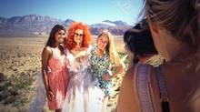 From left, Nimisha Mukerji, Tempest Storm and producer Kaitlyn Regehr. (Lindsay George)