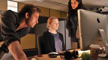 Scott Speedman, left, and Rosario Dawson, right, help Mireille Enos search for her missing daughter in The Captive. (Michael Gibson/eOne)