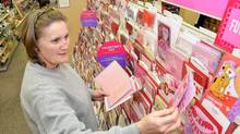 The total number of Valentine's Day cards sold has remained steady over the past decade in Canada and the U.S. (Charles Buchanan/The Associated Press)