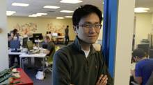 Allen Lau, CEO and co-founder of Wattpad, a collaborative storytelling platform, says his company doesn't currently have the resources for a coroporate social responsibility program, but has found a solution with The Upside Foundation's service. (Fernando Morales/The Globe and Mail)