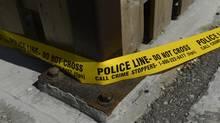 Police tape (Fred Lu/The Globe and Mai)