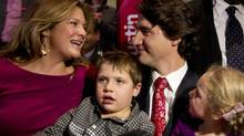 Justin Trudeau and wife Sophie Gregoire-Trudeau are expecting their third child in March in addition to Xavier, 6, and Ella-Grace, 4. (Peter Power/The Globe and Mail)
