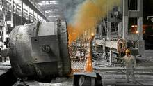 Steel making at Wuhan Iron and Steel Group in central China's Hubei province. Steel companies are diversifying into other industries, such as agri-business, as the government slows down infrastructure spending. (Reuters/Reuters)
