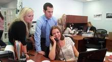 Left to right are Jenny Faucher, president of Managing Matters Inc., with interns Jeremy Meredith and Nadya Sayenko.