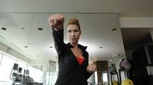 Kelley Keehn is photographed in Toronto on March 15, 2012. She has different workout routines depending if she's on the road or at home, including the Billy Blanks Tae Bo program. (Fred Lum/Fred Lum/The Globe and Mail)