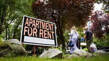 File photo of For Rent signs outside of a apartment in Vancouver. (Ben Nelms for The Globe and Mail)