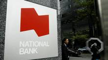 The entrance for National Bank on the corner of York St. and Adelaide St. West in Toronto's Financial district. (Charla Jones/Charla Jones/The Globe and Mail)
