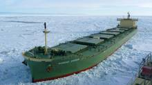 The Nordic Orion along the Northern Sea Route north coast of Russia in this undated handout photo.