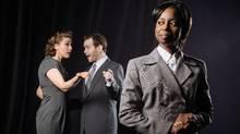 Jamie Konchak, Lennette Randall and DevinMacKinnon, stars of Crime Does Not Pay. (Tim Nguyen/Citrus Photography)