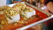 Basil garlic crusted whitefish (Nina Linton for The Globe and Mail)