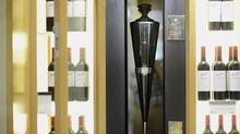 A bottle of Penfolds Ampoule wine from South Australia is kept in an airtight ampoule at the LCBO Summerhill store. (Fred Lum/The Globe and Mail)