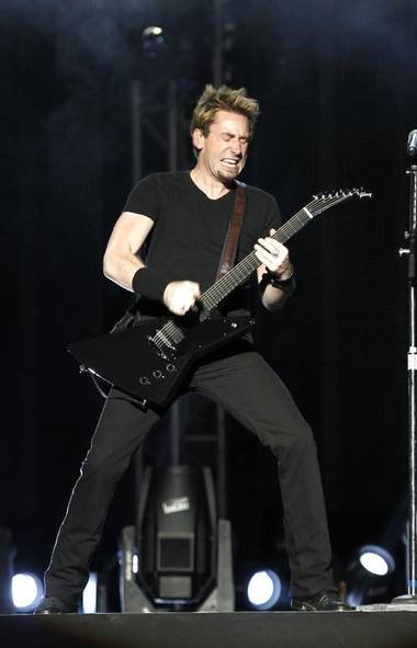 Hey, Nickelback singer Chad Kroeger at the Abu Dhabi F1 Grand Prix after-race concert on Saturday: 1993 called and it wants its wardrobe back. Also its sound. And 1976 wants its guitar. 2003 says you can keep the hair, but 2012 says it would like it if you went straight to 2055 and retired. (Reuters)