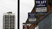 Warehousing and industrial units are seen for sale and to let in south east London January 25, 2012. (LUKE MACGREGOR/Reuters)