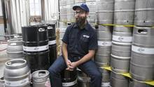Mark Murphy, co-founder and co-owner of Left Field Brewery, enrolled in the Niagara College program in 2010. (Chris Young for The Globe and Mail)