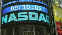 The sign outside the NASDAQ Market site is seen in this Aug. 19, 2004 file photo taken in New York. The Wall Street Journal reported on its website late Friday Feb. 4, 2011 that federal investigators are trying to identify the hackers that penetrated the market's computer network multiple times during the past year. (Kathy Willens/AP/Kathy Willens/AP)