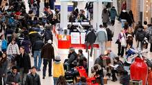 Shopping madness at Yorkdale mall in Toronto. (Charla Jones/Charla Jones/THE GLOBE AND MAIL)