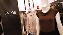 Montreal-based retailer Jacob produces much of its clothing in Canadian garment factories. (Moe Doiron/The Globe and Mail)