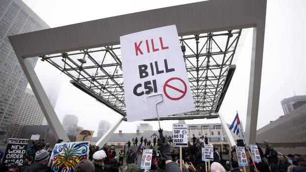 Thousands gather across Canada to protest Bill C-51 - The ...