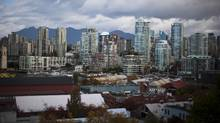 Real estate overlooking Granville Island is seen in downtown Vancouver. (Rafal Gerszak For The Globe and Mail)