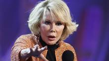 Joan Rivers stands up at the River Rock on Saturday. (Handout/Handout)