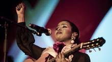 U.S. singer Lauryn Hill performs at the Stockholm Music and Arts festival on the isle of Skeppsholmen in central Stockholm on July 29, 2016. (VILHELM STOKSTAD/AFP/Getty Images)
