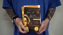 Inmates at the Warkworth Institution discussed these two books during a book club meeting on Oct. 30, 2014. Warkworth is a medium-security facility located in Campbellford, Ont. The club discussed The 100 Year Old Man and Year of Wonders. (Fred Lum/The Globe and Mail)