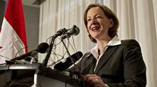 Alberta Premier Alison Redford speaks during a press conference in Edmonton October 2, 2011. (Jason Franson/The Globe and Mail/Jason Franson/The Globe and Mail)