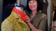 Fashion designer Pat McDonagh at work in Toronto on Sept. 7, 2000. (TANNIS TOOHEY/THE CANADIAN PRESS)