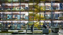 The way Canadians are shopping is pushing demand for next-generation warehouse properties, such as Best Buy's in Brampton, Ont., that can pick and pack for 50 out-bound trucks at once. (Kevin Van Paassen/Kevin Van Paassen/The Globe and Mail)