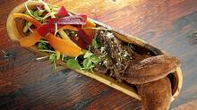 Braised bison, Saskatoon berry pemmican and red fife fry bread at Keriwa (Fernando Morales/The Globe and Mail/Fernando Morales/The Globe and Mail)