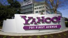 A Yahoo! signs sits out front of company headquarters in Sunnyvale, Calif. in this February 1, 2008 file photo. (Kimberly White/Reuters/Kimberly White/Reuters)