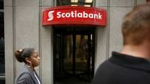A Scotiabank branch in Toronto. (Ryan Carter/Ryan Carter/The Globe and Mail)