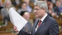 Prime Minister Harper speaks during question period in the House of Commons on Parliament Hill in Ottawa, Wednesday April 2, 2014 . (Adrian Wyld/THE CANADIAN PRESS)